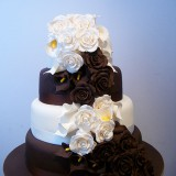4 Tier Brown and White Rose and Calla Lily £390.00