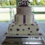3 Tier Purple Square Heart £300.00