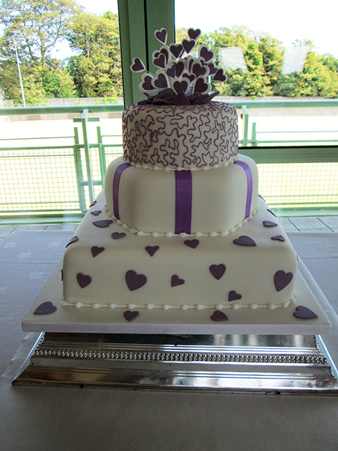 3 Tier Purple Square Heart £300.00