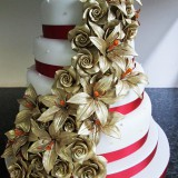 4 Tier Gold Lily Rose £410.00