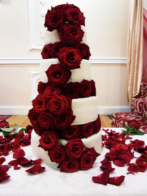 4 Tier Grand Prix fresh Red Rose £410.00