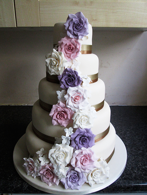 5 Tier All Roses £460.00