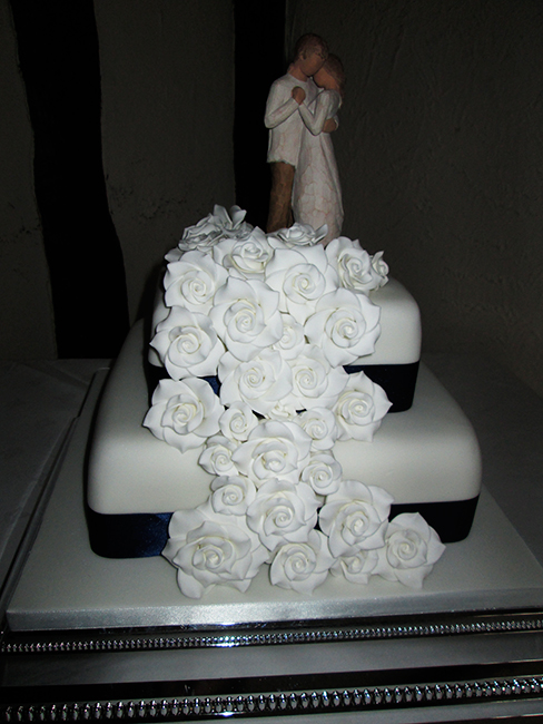 2 Tier Rose Cascade with topper £220.00