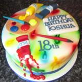 PAINT BRUSH CAKE £55.00