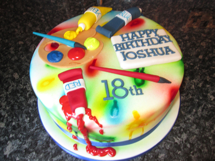 PAINT BRUSH CAKE £55.00