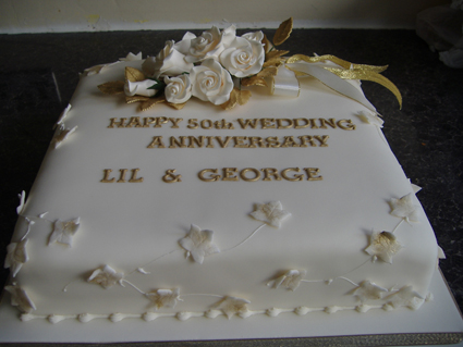 12in square golden wedding £80.00