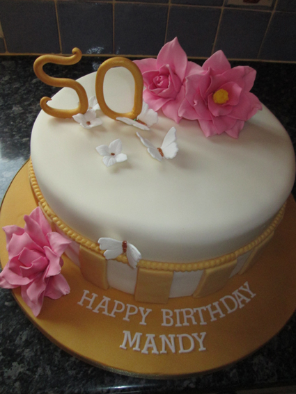 50th BIRTHDAY CAKE £55.00