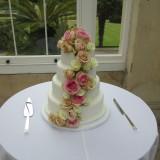 4 tier fresh rose cascade £410.00