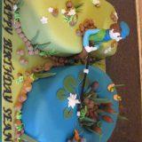 Fishing theme number cake £110.00