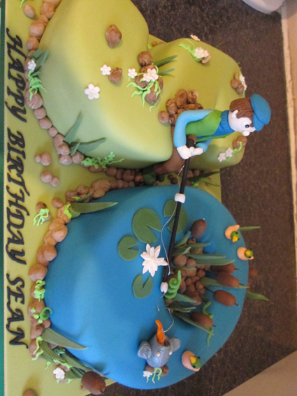 Fishing theme number cake £110.00
