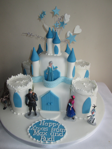Frozen castle cake £95.00