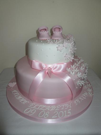 2 tier Christening cake £95.00