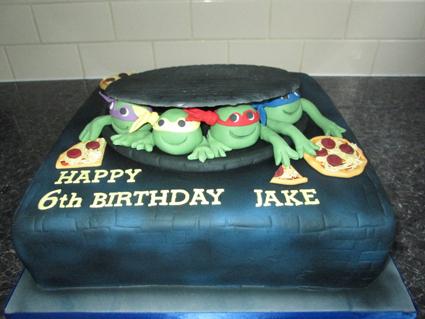 12in Ninja Turtle cake sponge £75.00