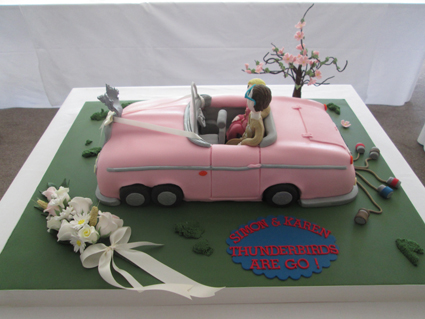 Thunderbirds car wedding cake