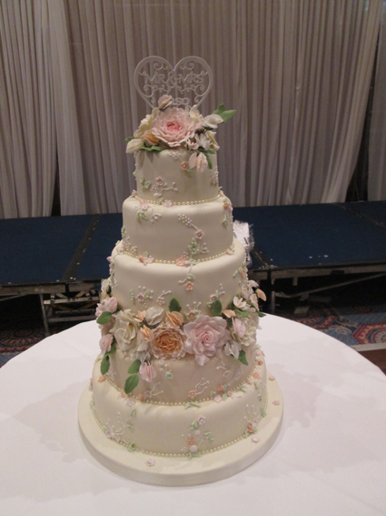 5 tier peonies, roses and sweet peas £450.00