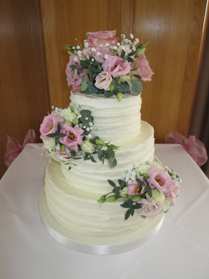 3 tier wedding cakes classic cakes sugar flowers naked cakes 3 tier wedding cakes junglespirit Image collections