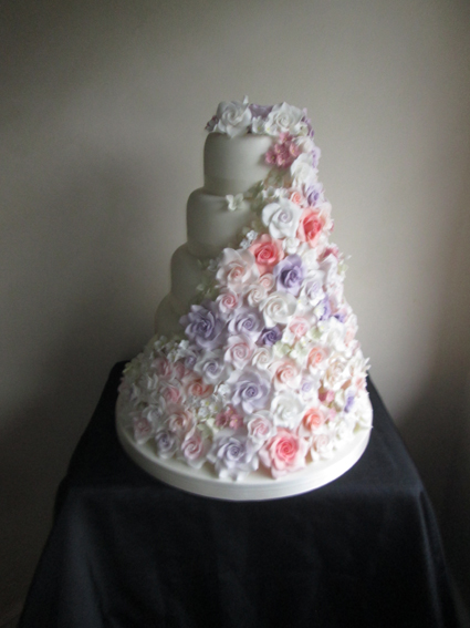 5 Tier full rose cascade £580.00