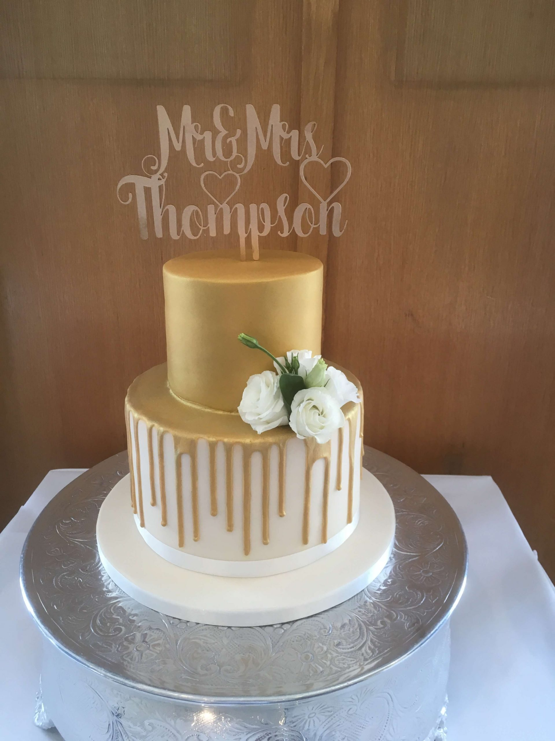 2 Tier Wedding Cakes Or Less Classic Cakes Com